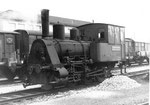 Die kleinere der zwei Rheinhafen Dampflokomotive T3 der Schweizerischen Reederei, 1972