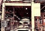 Der Abgang zu der Unterführung in den grossen Bahnhofshalle während des Abbruchs. 1983