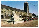 Ansichtskarte 30 Basel. Bad-Bahnhof (IRIS Mexichrome Kodacolor, Edition Dierks Basel)