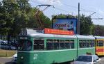 Der BVB-DÜWAG Be 4/6 Nr.611 mit einem BLT-Anhänger in den Strassen Belgrads. Sommer 2017