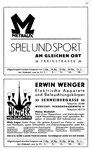 19) Metraux Spiel & Sport   /    Erwin Wenger Elektro