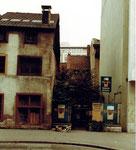 Das Restaurant Aeschentor kurz vor dem Abbruch 1980