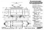 Tram-Motorwagen Be 2/2 Serie 23-55 (Zeichnung BVB)