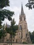 Die in den Jahren 1893 bis 1895 erbaute Matthäuskirche ist mit 80 Meterm die höchste Kirche Basels, 2018
