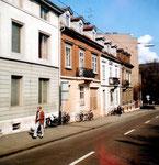 Diese intakte Häuserreihe und günstiger Wohnraum an der Klingelbergstrasse wurde 1983 einem Neubau geopfert