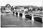 Ansichtskarte 6716 Basel. Mittlere Rheinbrücke (Rud.Suter Oberrieden ZCH)