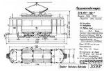 Tram-Motorwagen Be 2/2 Serie 101-136 (Zeichnung BVB)