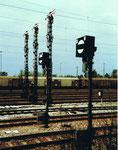 Grosse Signalanlage am Bahnhof Weil am Rhein 1982