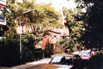 Eine alte Villa an der St.Alban-Anlage kurz vor dem Abbruch, 1983
