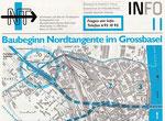 1) Informationsblatt zum Baubeginn der Nordtagente im Grossbasel, Oktober 1995