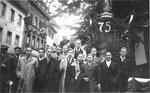 Die Mannschaft des FC Basel in Freiburg i.Br. 1939 (3.v.links Paul Wechlin)