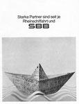 Inserat der SBB in der Zeitschrift «Strom und See» 1964