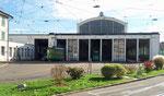 Das am 1.Juni 1900 eröffnete Tramdepot Morgarten im Oktober 2017. Hier fand 1968 die Eröffnungsfeier des Tramclub Basel statt.