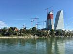 Gesamtübersicht aller ROCHE-Baustellen inklusive des zweiten ROCHE-Turmes, August 2020