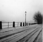 Der St.Johann-Rheinweg im Winter 1958