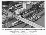 Inserat der «St.JOHANN Lagerhaus- und Schifffahrtsgesellschaft Basel» in der Zeitschrift «Strom und See» 1964