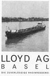 Inserat der «Rheinreederei Lloyd Basel» in der Zeitschrift «Strom und See» 1964