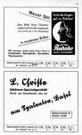31) Optiker Ruhnke und L.Christn Schürzen-Spezialgeschäft