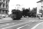 Der Schienenreinigungs-Motorwagen Nr. 2030 beim Kunstmuseum, 1971