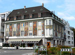 Das Restaurant Schiff am Hochbergerplatz mit den schönen Wandmalereien des Baslers Künstlers Burkhard Mangold (1873-1950)
