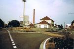Die grosse Basler Stückfärberei vor dem Abriss, 1984