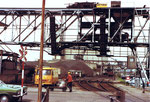 Renovierung des Krans der Rheinischen Güterumschlags AG (vorm.Kohlenumschlags) im vorderen Teil des Hafenbecken 1 1979
