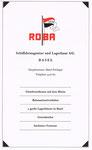 Inserat der ROBA Schifffahrtsagent & Lagerhaus Basel im Offiziellen Stadtplan von Basel 1963
