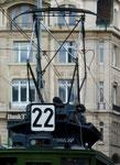Hundert Jahre Tram nach St.Jakob. Das berühmte Nummernschild der Linie 22 im Strassenverkehr, 2016