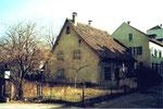 Kleinhüningen, die Schulgasse mit einem alten Fischerhaus, 1980