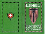 Lehrbrief vom 5.Mai 1925 für den Beruf einer Einlegerin vom Kant.Gewerbeverband Basel-.Stadt