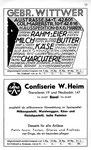 51) Gebr.Witwer Lebensmittel und Confiserie W.Heim