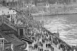 Der «Vogel Griff» auf der Mittleren Brücke im Jahre 1958