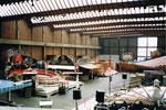 Die Herbstmesse an einem Sonntagvormittag in der leeren Halle 7, 1987 (Diese Halle wurde später zur Musical-Halle umgebaut)