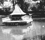 Lange Erlen, Das schöne Entenhäuschen im Weiher im Jahre 1960