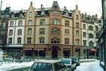 Das markante Eckhaus am Claragraben/Feldbergstrasse, 1987
