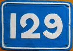 «Art-Typische« Hausnummer von Basel-Stadt bis in die 60er-Jahre (Bläsiring 129)