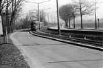 Ein schöner Tramzug der Serie Be 4/6 Düwag auf der schnellen Strecke von Riehen Richtung Stadt, die Haltestelle Eglisee anfahrend, 1969