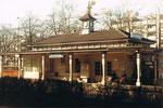 Der Bahnhof Heuwaage der Birsigthalbahn, 1975. Dieser Bahnhof wurde nach Rheinfelden versetzt
