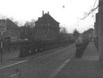 Die Wiesenbrücke beim Riehenring 1975- Diese Brücke war die Eisenbahnbrücke zum Bad.Bahnhof bei der heutigen Mustermesse