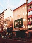 Das Cinama REX in der Steienvorstadt, erbaut 1937-1939 von den Architekten Oskar Meyer+Albert Löhrer, 1984 abgerissen!, 1975