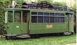 Trammotorwagen Be 2/2 Nr.138 in der Abstellanlage beim Eglisee, 1972