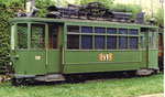 Der Trammotorwagen Be 2/2 Nr.138 in der Abstellanlage beim Eglisee, 1972