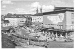 Ansichtskarte Barfüsserplatz Basel (Rückseite der Karte durch aufkleben beschädigt: Verlag & Photo ?)