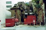 Der Abbruch des Restaurants Aeschentor, 1980