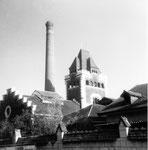 Der Schlachthof Basel (Baujahr 1900 - 1906) an der Mülhauserstrasse, 1960