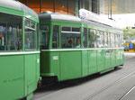 Der Anhängewagen B4 Nr.1463 an der Haltestelle «Messeplatz», 2016
