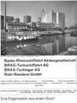 Inserat der «BRAG Basler Rheinschifffahrt AG» in der Zeitschrift «Strom und See» 1964