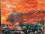 Vogelflug_Acryl auf Leinwand_40x50