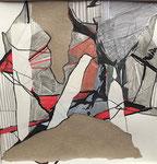 Collage auf Papier 20x20cm