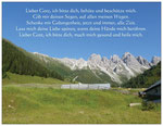 93) Postkarte mit Gebet 1,00 €